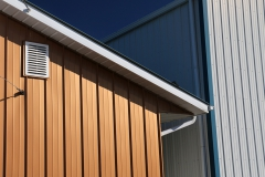 Metallic copper Pro-Lock used as cladding on commercial building.